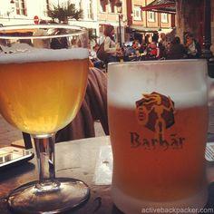 Belgium Blonde Beers in Brussels...yum!  ASPEN CREEK TRAVEL - karen@aspencreektravel.com