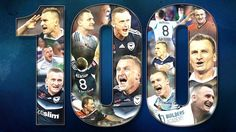 Congratulations Besart Berisha. 100 goals in 156 games for two clubs in six seasons. 19th on the combined A-League/NSL goal-scoring table and climbing. (Image via Melbourne Victory). 15.04.17