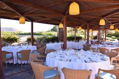 Under the Pergola at the Fontana Amorosa Gourmet Restaurant, Aldemar Knossos Royal 5* hotel, Hersonissos Crete