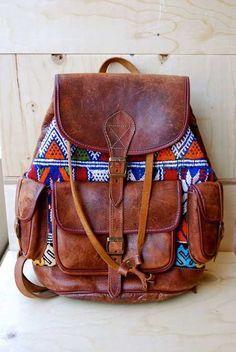 20+ Şık Deri Sırt Çantaları-7