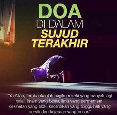 Sujud terakhir Islamic Inspirational Quotes, Islamic Quotes, Islamic Messages, Muslim Quotes, Quran Quotes, Islamic Prayer, Hijrah Islam, Doa Islam, Reading Al Quran