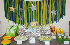 Lochies 4th Space Party - Food Table