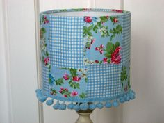 Dehilah in Blue Shabby Chic Patchwork Lampshade - Folksy