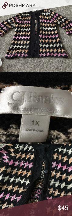 Gorgeous like new cjbanks woman's colorful sweater Size 2x like new condition Cj banks woman's colorful sweater cj banks Sweaters