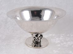 DGH Sterling Silver Footed Bowl Grape 219g 6in Denmark Dansk Guldsmede Handvaerk #DanskGuldsmedeHandvaerk