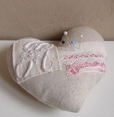 Heart pin cushion   Flickr - Photo Sharing!