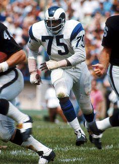 """David """"Deacon"""" Jones, Los Angeles Rams.Im a game vs THe Oakland Raiders"""