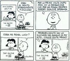 Lucy, distruttrice di speranze e fiducia per soli 5 cents! Però ci fa morire dalle risate.. gratis! #charliebrown #lucyvanpelt #peanuts