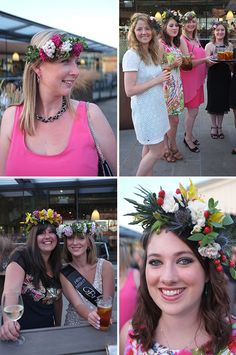 The Flower Crown hen or Bachelorette party craft idea