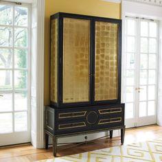 "Global Views | Collectors Cabinet, Black | ZincDoor.com | 56""w x 17""d x 90.5""h | sku: 05511 | 7,498.00"