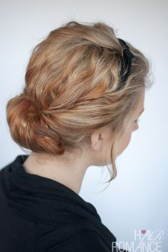 Hair Romance - curly headband updo