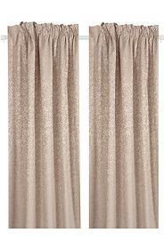 2 PACK REGAL DAMASK 230X218CM TAPED CURTAIN