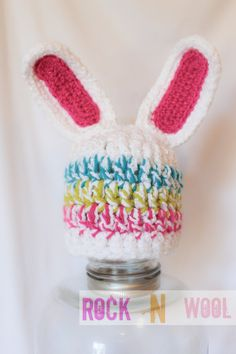 Easter egg inspired funky bunny 03 months by RockNWool on Etsy, $14.00