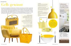 Romantisch Wohnen - June 2014  Trendpublication with the Handed By Shopper Paris in corn yellow. Handed By