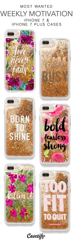 Most Wanted Weekly Motivation iPhone 7 Cases & iPhone 7 Plus Cases. More Protective Liquid Glitter Inspirational iPhone case here > https://www.casetify.com/en_US/collections/iphone-7-glitter-cases#/?vc=sonxzCyE0P