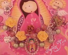 Catholic Religious Jewelry Charm Bracelet Virgencita Plis Angels Virgin Mary