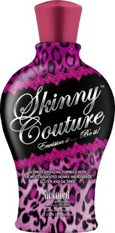 Devoted Creations SKINNY COUTURE Bronzer Mild Warming Tanning Lotion 12.25 oz. by Devoted Creations. $22.96. Dark Bronzing Formula. Anti-Aging/Bronzer/Blush Be the woman you want to be unleash your inner skinny girl! Extreme instant bronzers bathe your skin with the aura of the stars while the delayed bronzers work to give you the tan of your dreams.#No need for a nip or tuck this skinny girl formula does it all Tightens, contours, firms and shapes while also gettin...