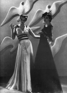 For Harper's Bazaar, featuring gowns by Chanel 1937 | by dovima2010