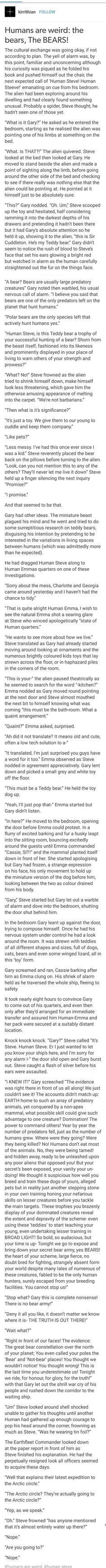 Humans are Weird: Bears