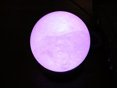 Purple Salt Lamp Awesome Himalayan Salt Lamp Purple  Google Searchi Don't Believe This Is Design Inspiration