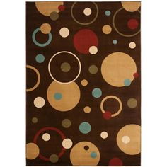 Safavieh Porcello Rectangular Brown Geometric Woven Area Rug (Common: 6-ft x 9-ft; Actual: 6.58-ft x 9.5-ft)