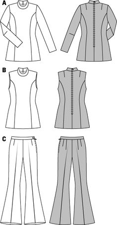 Risultati immagini per disegno pantalone a zampa burda