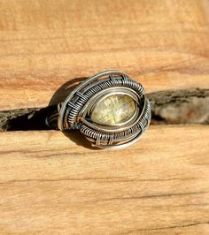 Sterling silver wire wrapped ring with by OreganickJewelry on Etsy