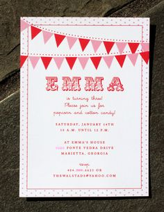 emma's red and pink circus party
