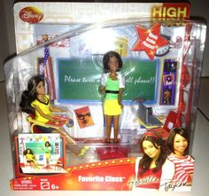 Disney's High School Musical Favorite Class Playset with Gabriella (Vanessa Hudgens) and Taylor (Monique Coleman) Dolls by Mattel, 2008