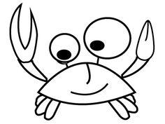 Coloriage crabe , Coloriage à imprimer et à colorier
