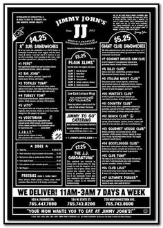 Gluten Free Options at Jimmy Johns | Food I Can Eat- dairy/ gluten ...
