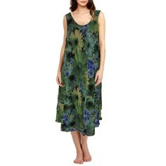 Sun Flower Floral Georgette Gown for Women