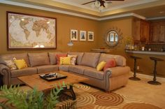 A Fabulous Den from a Fabulous Designer! ( pic courtesy of Alba @ Dorsch Interiors) Colorful Decor, Your Style, Den, Living Room, Cool Stuff, Interiors, Furniture, Autumn, Spaces