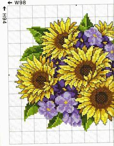 deliziosi quadretti floreali da ricamare a punto croce