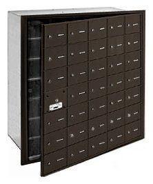 4B+ Horizontal Mailbox - 35 A Doors (34 usable) - Bronze - Front Loading - USPS Access by Salsbury Industries. $1063.88. 4B+ Horizontal Mailbox - 35 A Doors (34 usable) - Bronze - Front Loading - USPS Access - Salsbury Industries - 820996417473. Save 26% Off!
