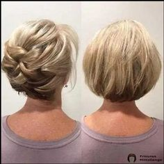 Short hair can go up (no hair extensions added! Book classes and shows now . Short Bridal Hair, Bridal Hair Updo, Short Hair Updo, Short Hair Cuts, Curly Hair Styles, Hairdo Wedding, Elegant Wedding Hair, Wedding Hair And Makeup, Competition Hair