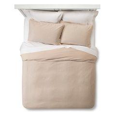 Washed Linen Duvet Set (Full/Queen) Natural - Threshold™ : Target