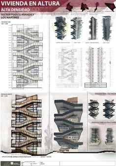 Imagen arquitectónica ..... Vivienda en altura