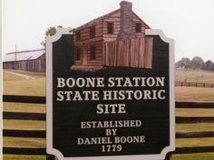 Daniel Boone (1734-1820), known for his role in the exploring and settling of the Kentucky frontier decided that the settlement of Boonesborough had become far too crowded. In December 1779, Boone and his family established Boone's Station. At its height, the community had 15 to 20 families, including the Boone, Barrow, Hays, Morgan, Muir, Scholl and, Stinson families.