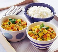 Sweet potato & pea curry