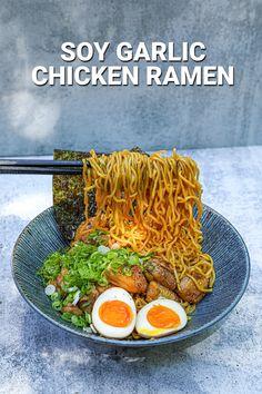 Ramen Recipes, Spicy Recipes, Asian Recipes, Cooking Recipes, Healthy Recipes, Ethnic Recipes, Japanese Recipes, Recipies, Spicy Miso Ramen Recipe
