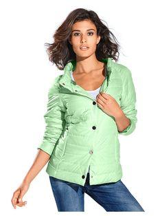 Veste matelassée tendance couleur vert menthe, idéale pour la mi-saison