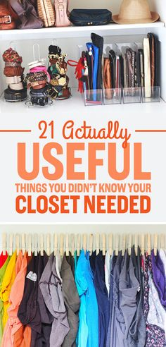 58 super Ideas for clothes closet organisation thoughts Organisation Hacks, Life Organization, Clothing Organization, Bedroom Organization, Scarf Organization, Walk In Closet Organization Ideas, Household Organization, Master Closet, Closet Bedroom