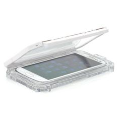 Waterproof Case for Samsung Galaxy S3 and S4 with transparent back. Protect your phone against dust, water and shocks with this case while still being able to operate it and even take pictures due to the transparent back cover.