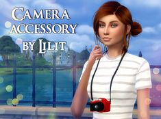 Camera accessory | mysite Sims 4, Die Sims, Cc Camera, Camera Accessories, Teen, Female, Ts4 Cc, Color, Colour