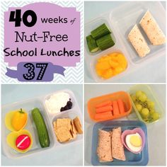 Kids School Lunches Week 37 of 40 Nut-Free StuffedSuitcase.com