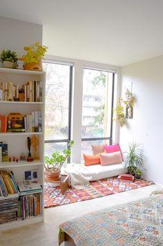 Indian decor, worldmarket, target, opal house, bookshelf , plants, prints, patterns, colorful decor
