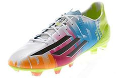 Adidas Unleash Wildly Colorful adiZero F50 Messi For more info visit http://www.soccermint.com