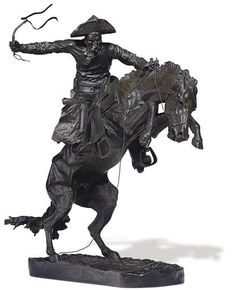 Frederic Remington, 'The Broncho Buster'