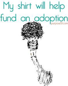 t-shirts that fund an adoption